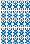 Scotland Flag Stickers - 65 per sheet